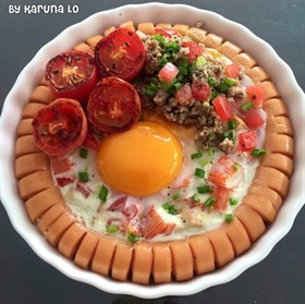 ~Baked Egg in Sausage Ring~
